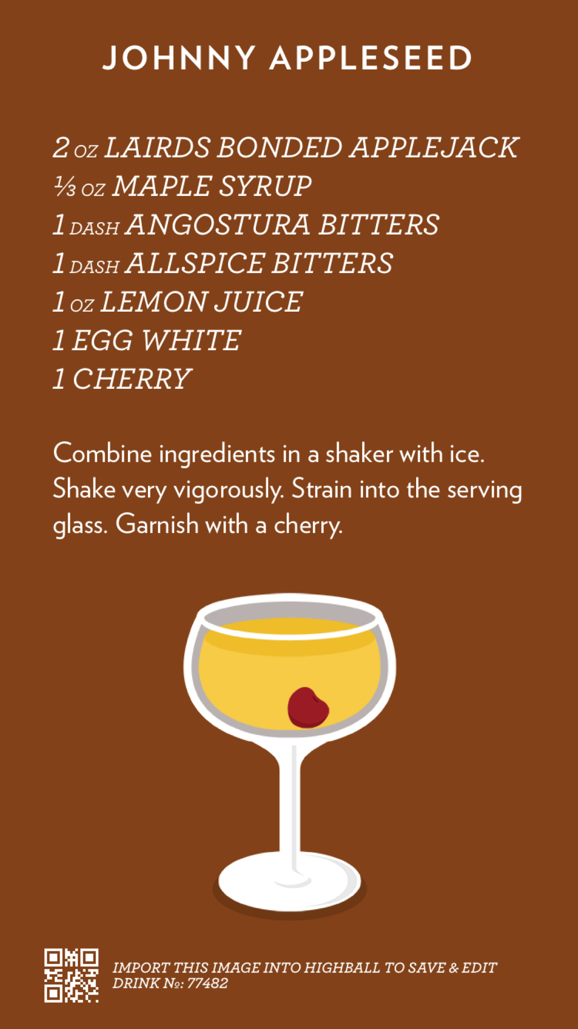 Recipe for Johnny Appleseed